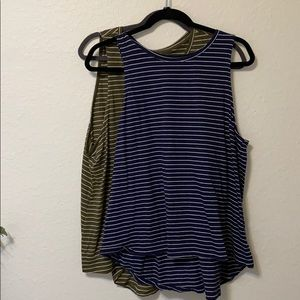 2 STRIPED TANKS